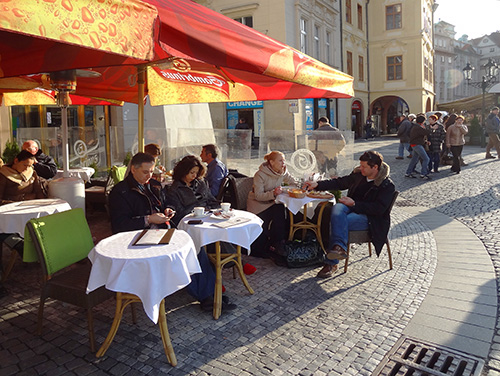 Cafe on the Old Town Square in Prague