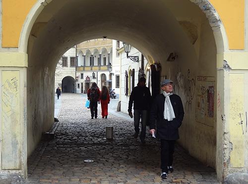 Street in Prague's Old Town in Prague