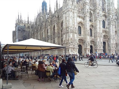 Piazza del DuomoVittorio seen during my Milan visit