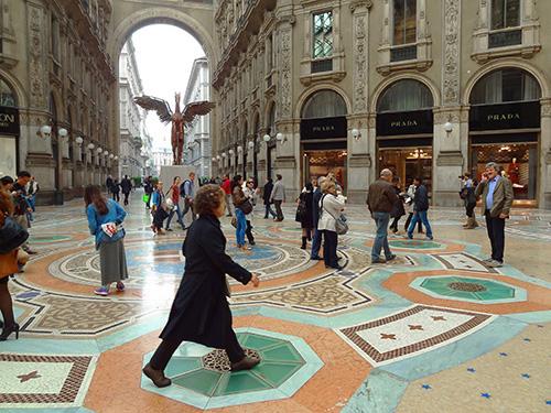 Vittorio Emanuele II Galleria, seen on my Milan visit