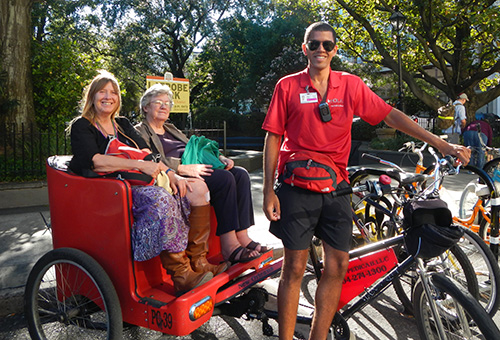 In the pedicab off to Jackson Square / photo: Carla Marie Rupp