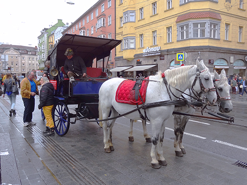 a horse-drawn carriage, one of the things to do in Innsbruck, Austria