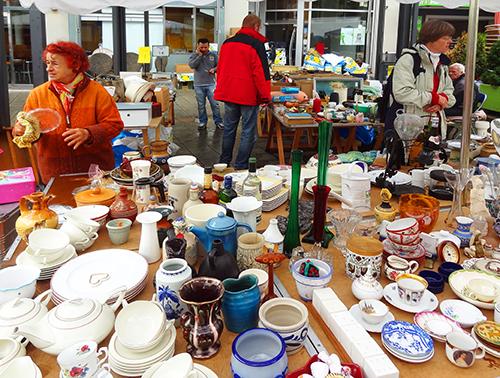 Flea market on Burggraben in Innsbruck