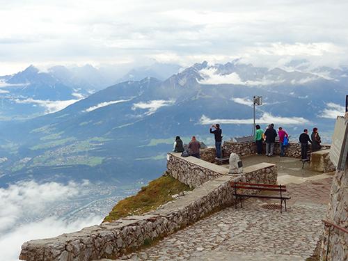 View over Innsbruck from the Hafelekar