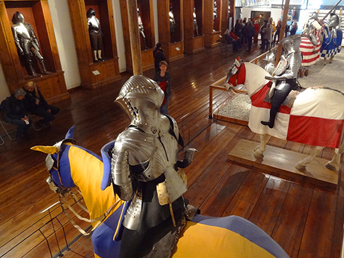 The ancient arms museum in Ambras Castle