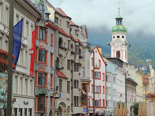 innsbruck's colorful buildings, one of the things to do in Innsbruck