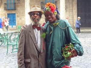 Posing for photos in Old Havana in Cuba - traveling to Cuba legally