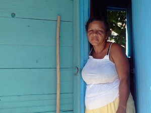 Woman at home outside Santiago de Cuba