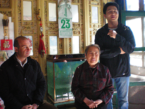 A home visit in a Beijing hutong