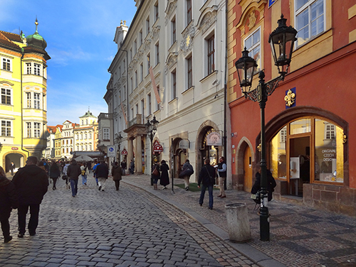 The old Jewish Quarter in Prague - European sites for Jewish travelers