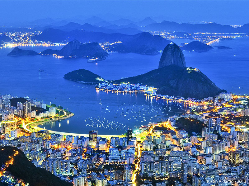 A view of Rio de Janiero in the evening, where our author enjoyed Rio like a local