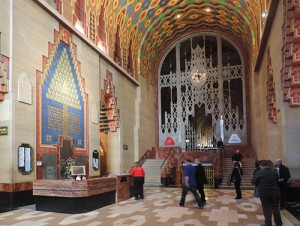 Art Deco lobby of the Guardian Building in Detroit