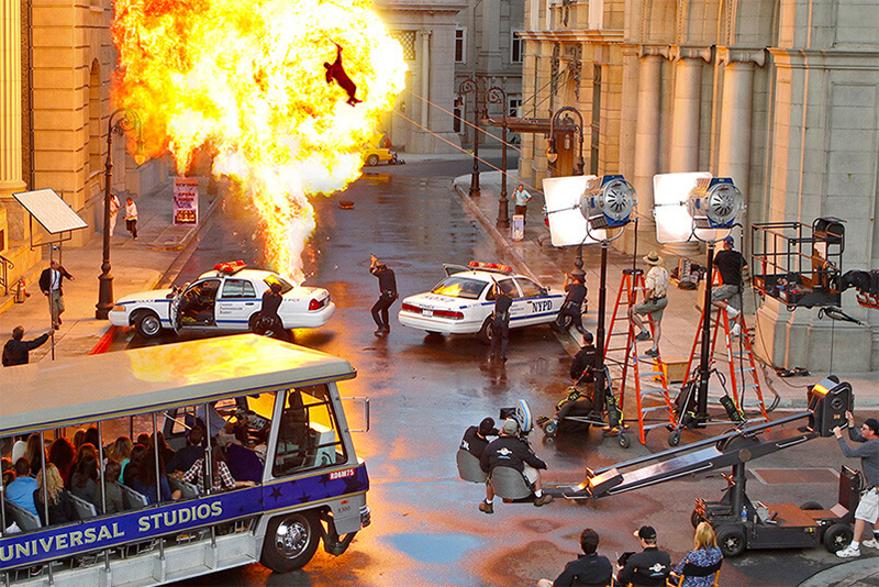 a movie being filmed at Universal Studios, One of the Most Popular Places in LA