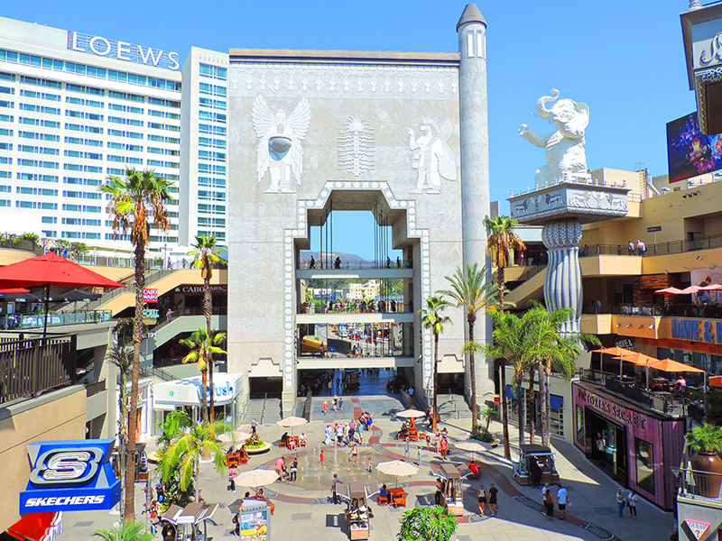 people walking about the popular Hollywood and Highland Center