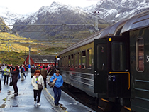 The Fläm Railway in Myrdal reached on a Norway in a Nutshell tour