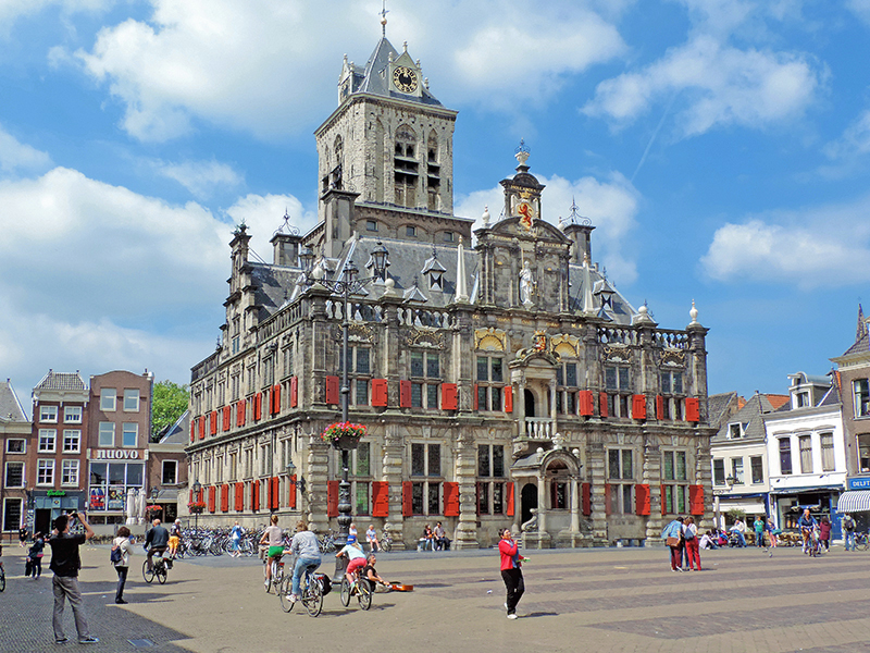 Delft's Town Hall, seen on day trips from Amsterdam