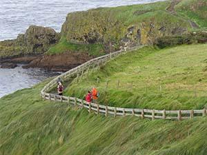 people on a walkway