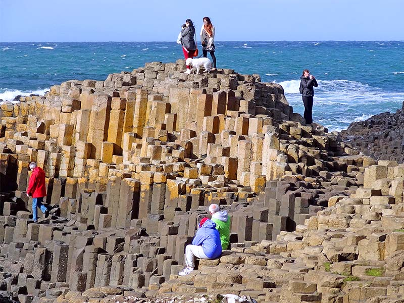 The Giant's Causeway along Northern Ireland's coast road