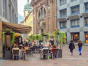 cafes in the old town, one of the best things to do in Lugano Switzerland