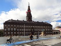 Parliament building in Copenhagen