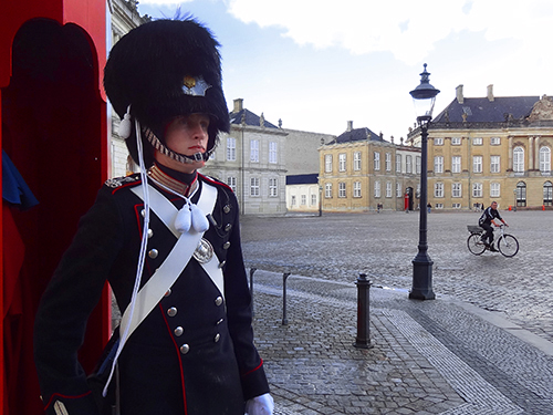 Guards at Amalienborg Palaca, seen during my 48 hours in Copenhagen