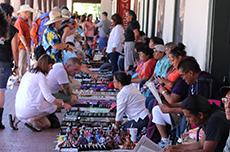 Vendors on Santa Fe Plaza