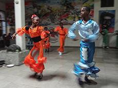 A teenage dance group in Cuba