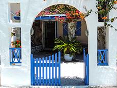 Entrance to a home near Firá in Santorini