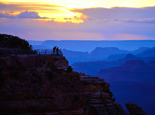 Sunset at the Grand Canyon, one of the UNESCO World Heritage Sites in the USA