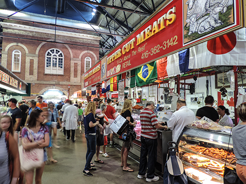 The city's ethnicity comes alive in St. Lawrence market, one of the best places in Toronto
