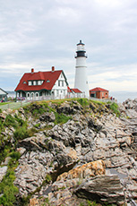 lighthouse seen on a Maine cruise