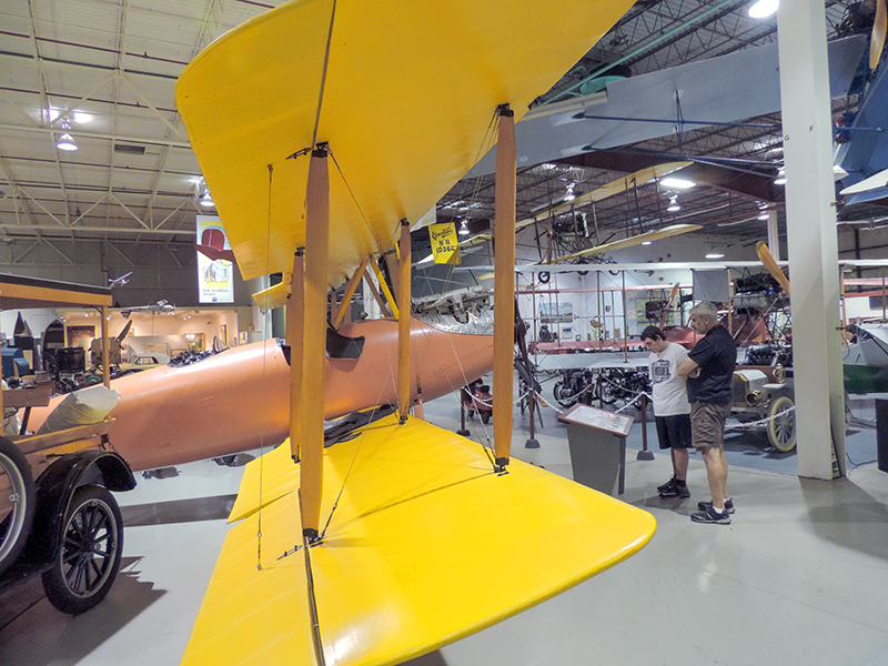 old airplanes in a hanger - things to do in the Finger Lakes