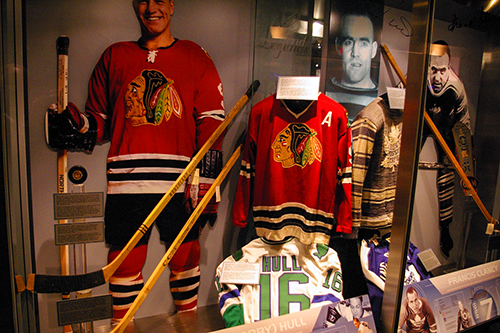 an exhibit in teh Hockey hall of fame