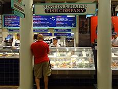 Quincy Market, Boston in U.S.