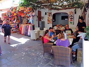 cafe in Lindos