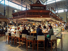 people eating in a Food Hall seen during 3 days in Stockholm