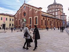 Outside Santa Maria delle Grazie