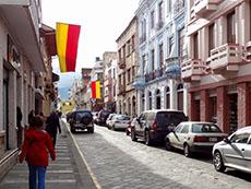 street in Cuenca, Ecuador