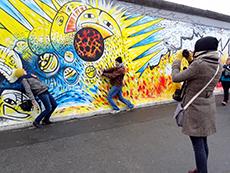 Painting on Berlin Wall, East Side Gallery, Berlin