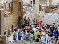 tour group at Akrotiri on Santorini among my memorable travel experiences