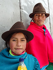 Indian mother and daughter, Cuenca, Ecuador
