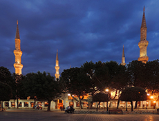 The Blue Mosque, Istanbul at twilight among my memorable travel experiences