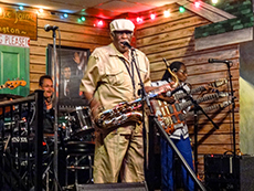 Blues singer at Kingston Mines among my memorable travel experiences