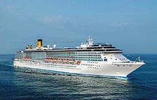 the Costa Mediterranea at sea