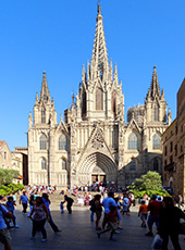 The cathedral in teh Gothic Center / photo: Jim Ferri in Barcelona