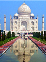 the Taj Mahal in India, one of the coutries requiring visas for US citizens