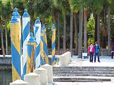 Bayside walk at Vizcaya in Miami