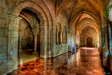 Cloisters in an old monastery