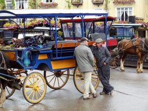 horse cart driverson the Ring of Kerry in Ireland