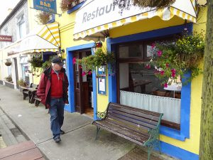 a brightly painted shop in Sneed, the last town before Killarney National Park
